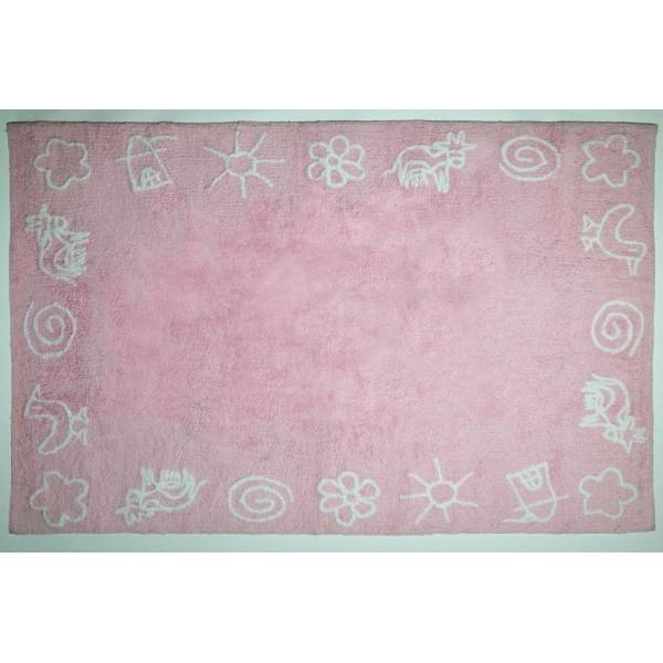 Różowy Dywan W śliczne Wzory Do Aranżacji Pokoju Dziewczynki Sklep