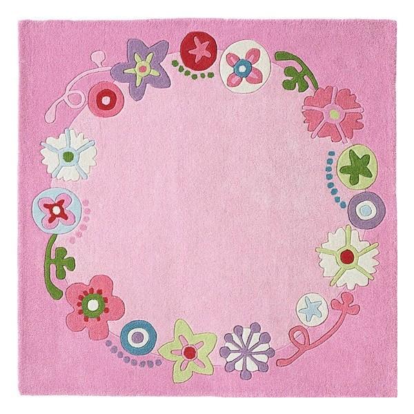 Różowy Dywan Dziecięcy Haba Kwiatowa Korona Do Pokoju Dziewczynki