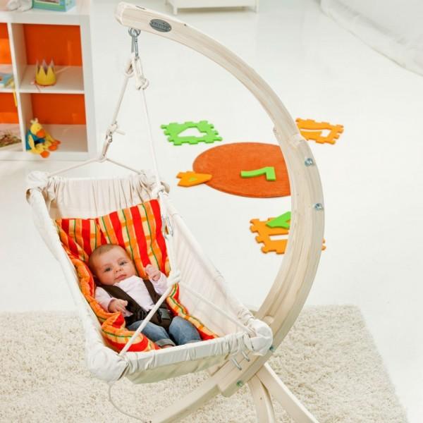 Kaya Natura- hamaczek dla niemowlaka ze stojakiem Hippo