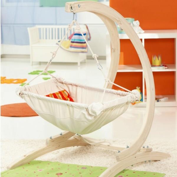 Kaya Natura- hamaczek dla niemowlaka ze stojakiem Carrello