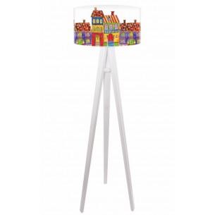 Lampa podłogowa Kolorowe Domki