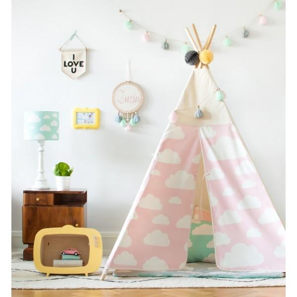 Namiot Tipi - Chmurki Pink