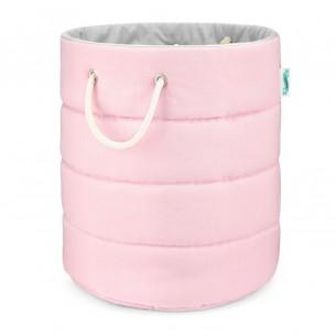 Kosz na zabawki Classic Pink & Grey