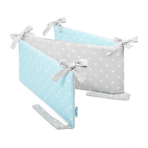 Ochraniacz do łóżeczka Lovely Dots Mints & Grey
