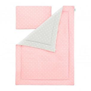 Pościel dziecięca Lovely Dots Pink & Grey