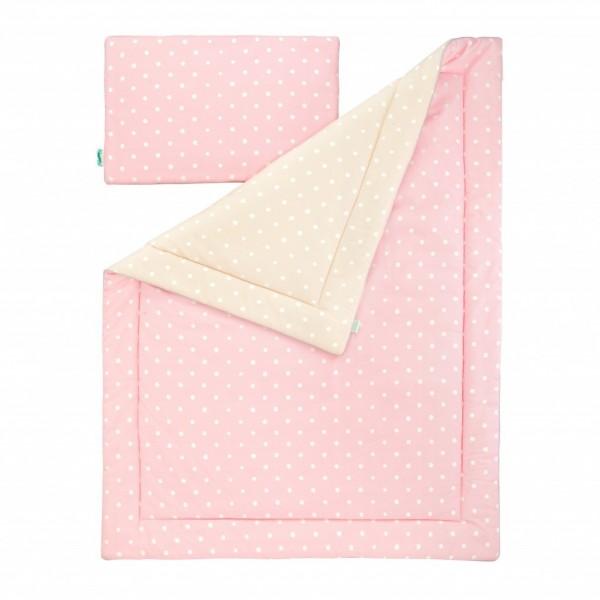 Pościel dziecięca Lovely Dots Pink & Beige