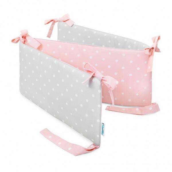 Ochraniacz do łóżeczka Lovely Dots Pink & Grey