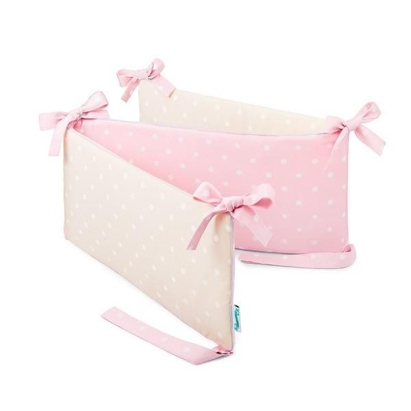 Ochraniacz do łóżeczka Lovely Dots Pink & Beige