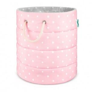 Kosz na zabawki Lovely Dots Pink & Grey