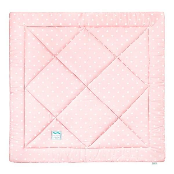 Mata dla niemowląt Lovely Dots Pink & Grey