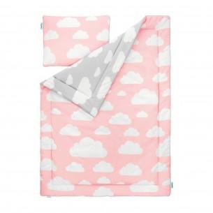 Pościel dziecięca Chmurki Pink & Grey