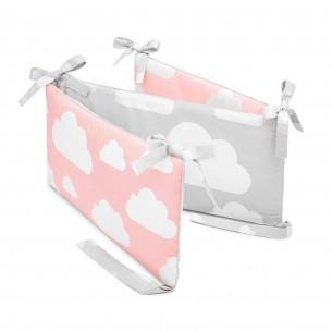 Ochraniacz do łóżeczka Chmurki Pink & Grey