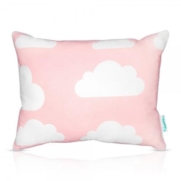 Poduszka dla dziecka Chmurki Pink & Grey