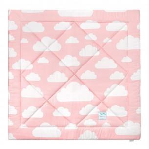 Mata dla niemowląt Chmurki Pink & Grey