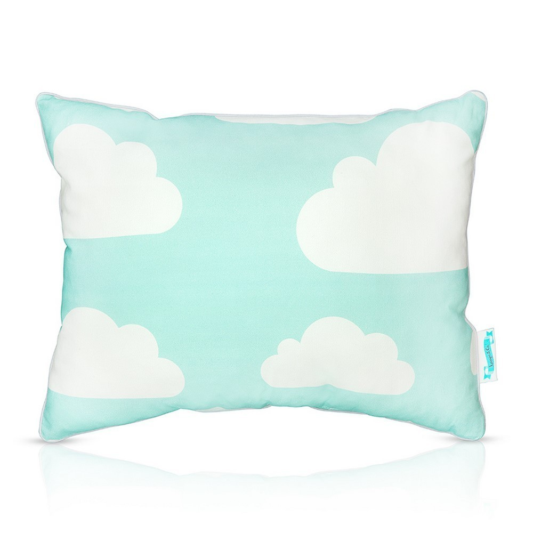 Poduszka dla dziecka Chmurki Mint & Grey