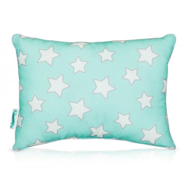 Poduszka dla dziecka Mint & Grey Stars