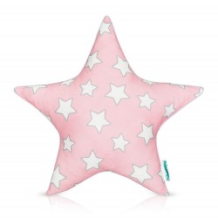 "Poduszka ozdobna ""STAR"" Pink & Mint Stars"