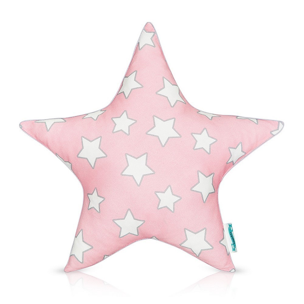 Poduszka ozdobna STARS Pink Stars