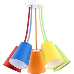Lampa sufitowa Wire Colour 5pł
