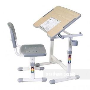 Biurko Piccolino II Grey + Krzesełko regulowane