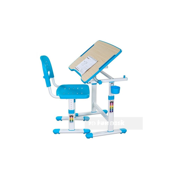 Biurko Piccolino II Blue + Krzesełko regulowane