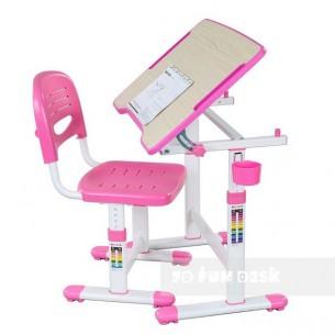 Biurko Piccolino II Pink + Krzesełko regulowane