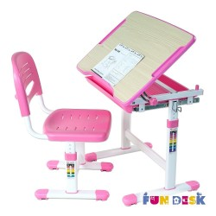 Biurko Piccolino Pink + Krzesełko regulowane