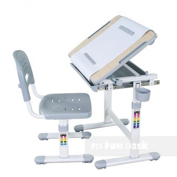 Biurko Bambino Grey + Krzesełko regulowane