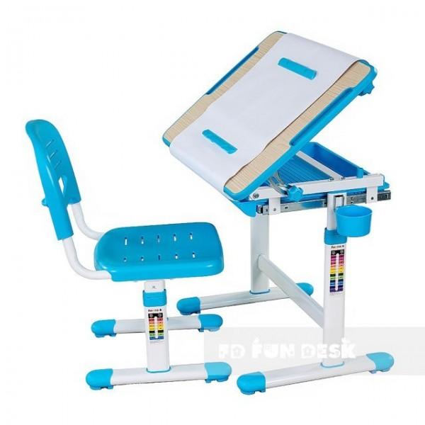 Biurko Bambino Blue + Krzesełko regulowane