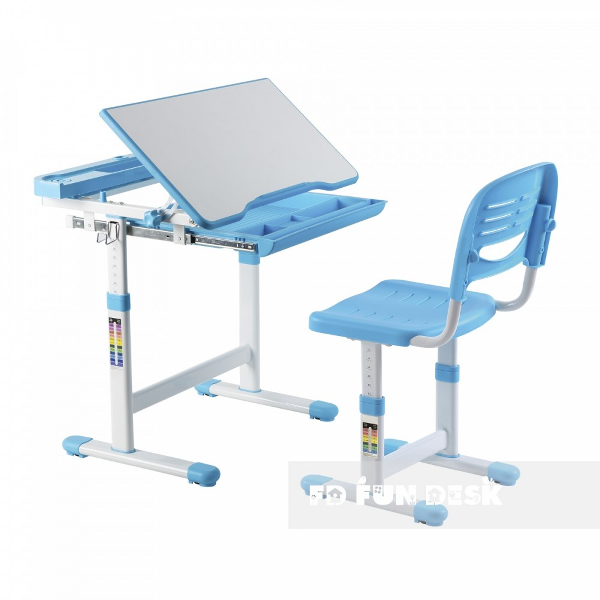 Biurko Centare Blue + Krzesełko regulowane