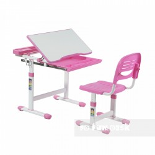 Biurko Centare Pink + Krzesełko regulowane