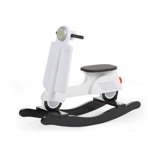 Childhome Bujak na biegunach skuter Black & White