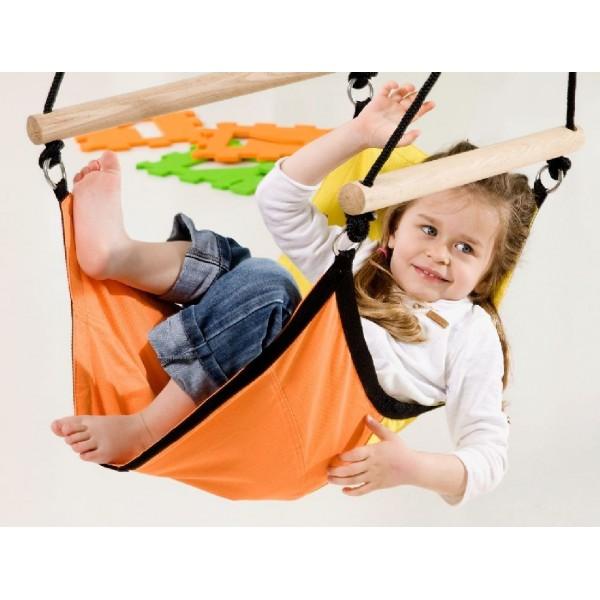 AZ-2030485 Kid's Swinger yellow-orange - huśtawka